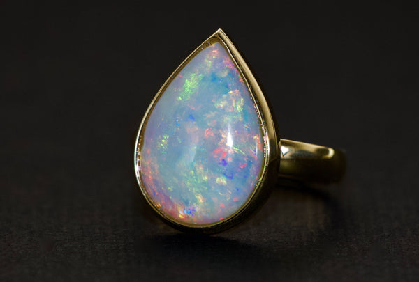 Tamahra Prowse jewellery design. Opal and 9ct gold ring.