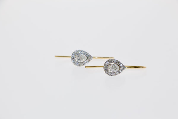 Tamahra Prowse jewellery design. Diamond and 18ct gold earrings.