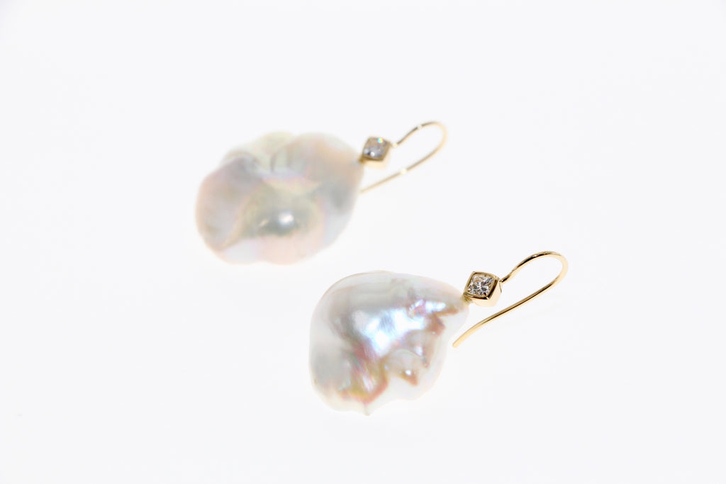 Tamahra Prowse pearl and diamond earrings