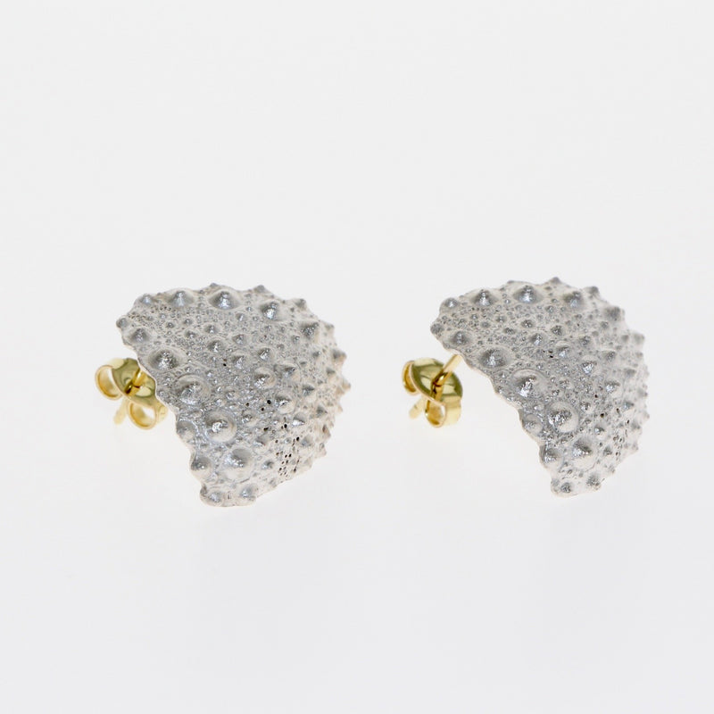 Silver and gold Fragment earrings by designer Tamahra Prowse.