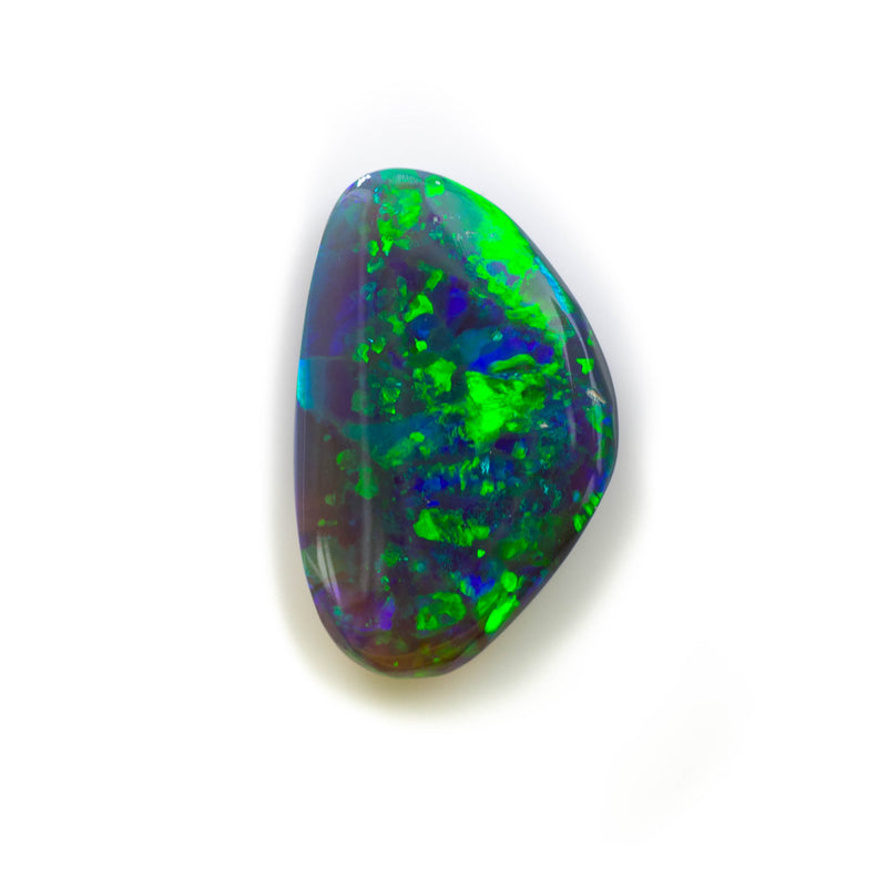 Black opal loose stone from Lightning Ridge Australia. Opals by Tamahra Prowse