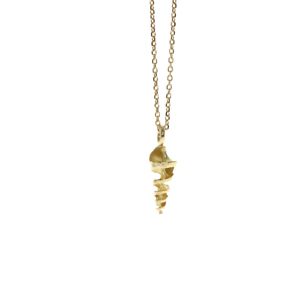 Tamahra Prowse golden shell skeleton pendant