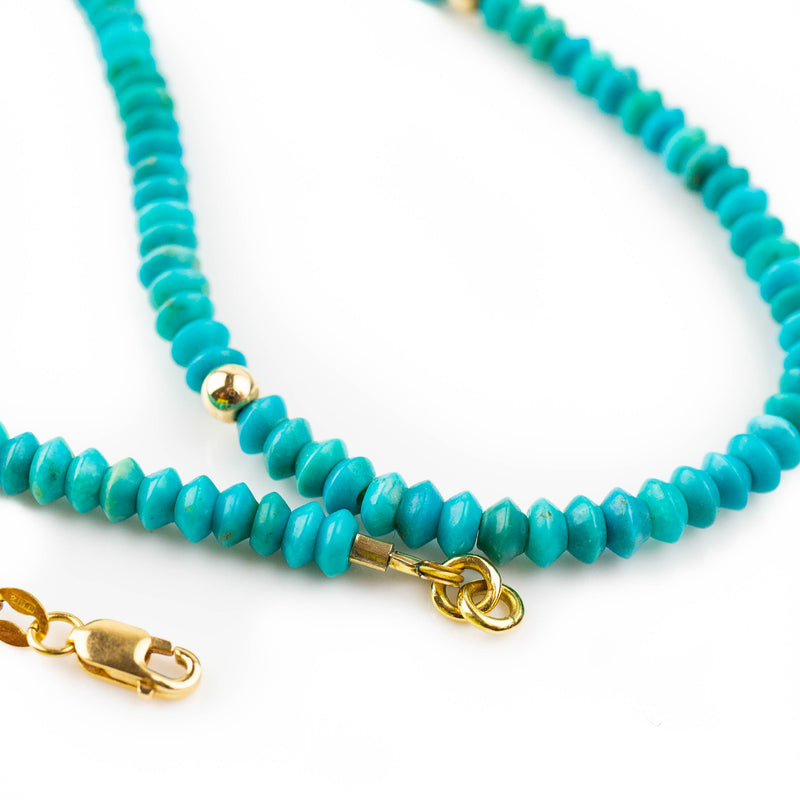 Turquoise necklace with drop
