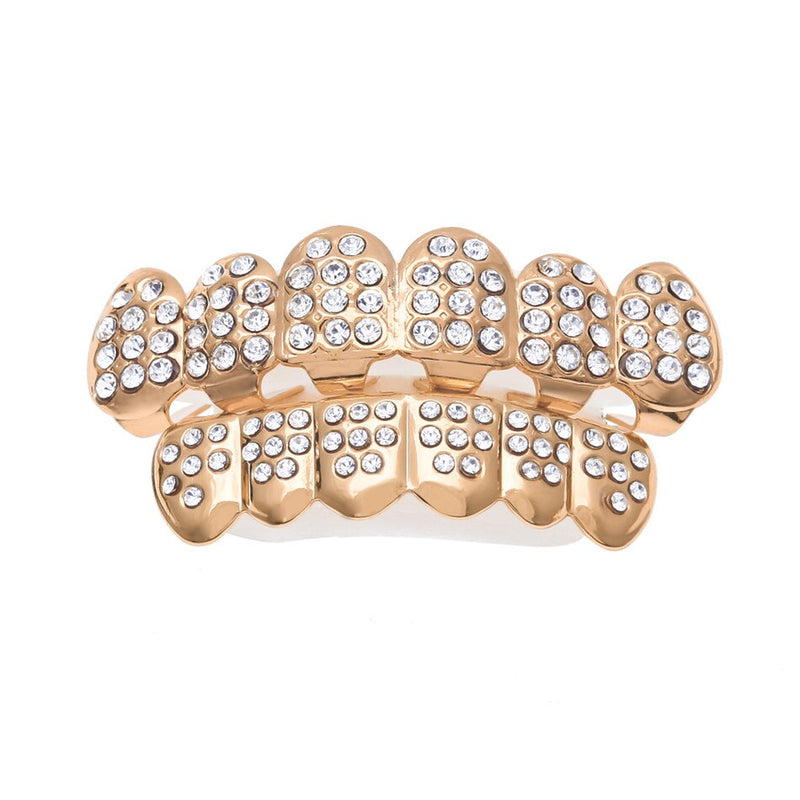 Iced Out Full CZ Rhinestone Grill Set