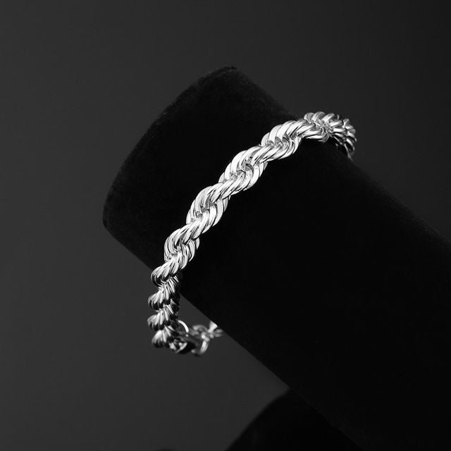 Twisted Braided Chain Bracelet