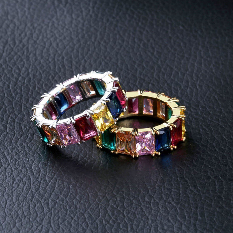 Baguette Multi-Colored Stones Ring