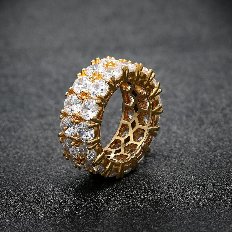2 Row CZ Ring