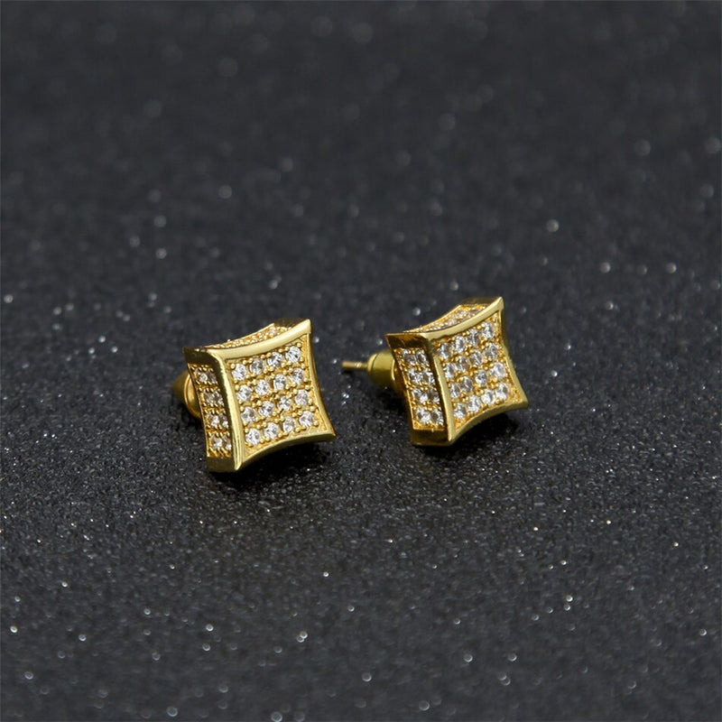 AAA Zircon Square Stud Earrings