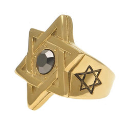 Hematite Hexagram Ring