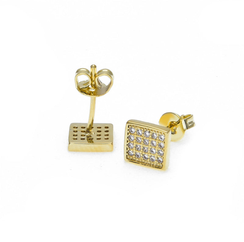 Iced Zircon Stud Earrings