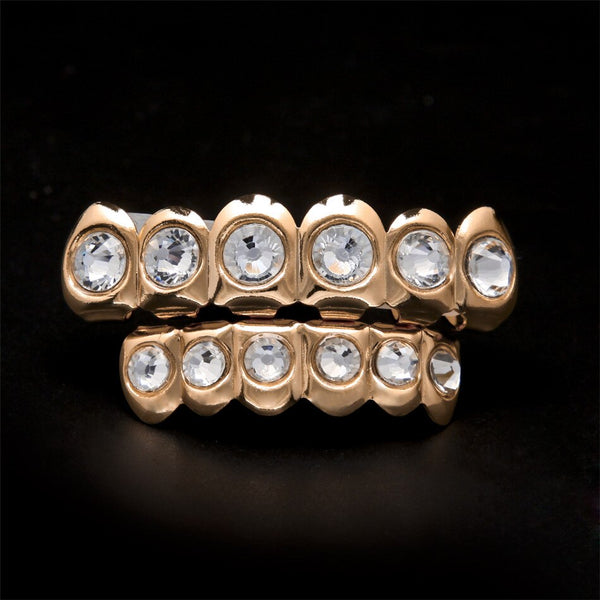CZ Rhinestone Mouth Grill Set