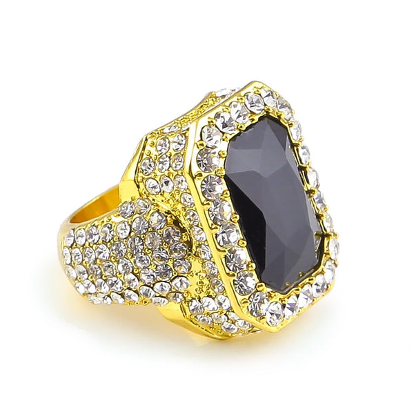 Punk Style Square Gem Ring