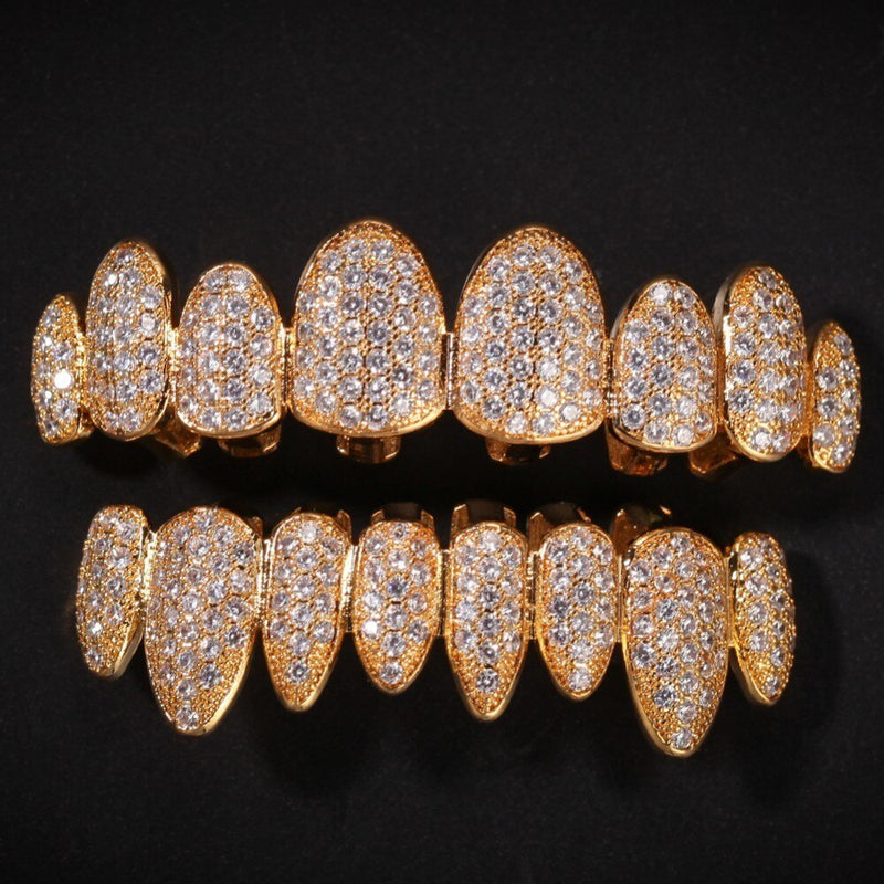 Iced Out AAA Zircon Micro Pave Teeth Grills