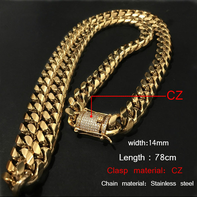 14mm Cuban Miami Link Necklace