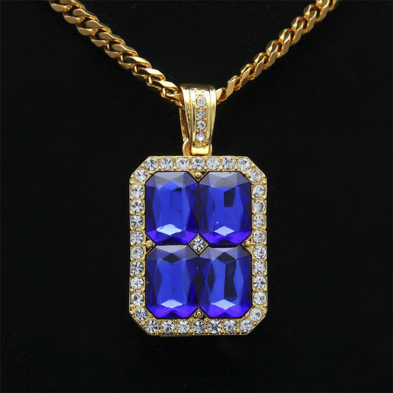 4 Gem Crystal Pendant