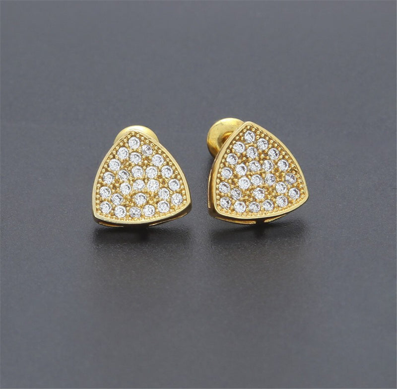 Triangle Shine Stud Earring