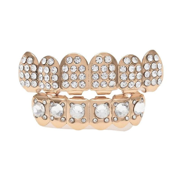 CZ Rhinestone Teeth Grill Set