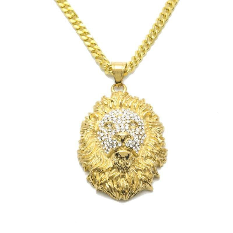 Animal King Lion Head Pendant
