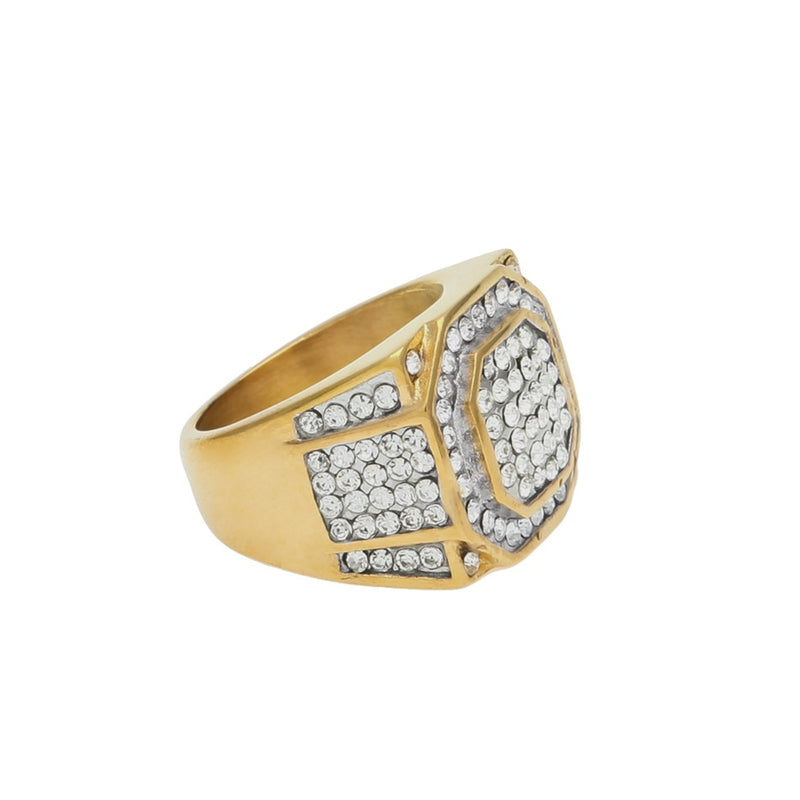 Rhinestone Crystal  Punk Ring