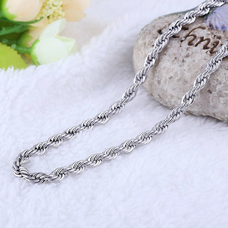 2mm 925 silver Necklace