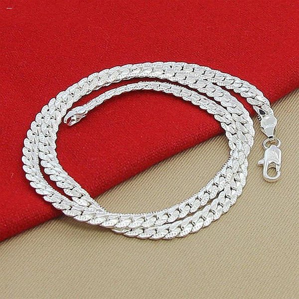 6MM Full Sideways 925 Silver Necklace