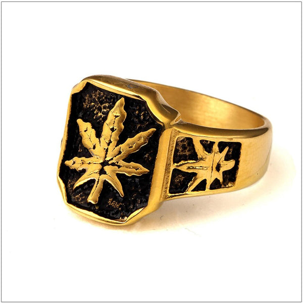 Oil Maple Leaf Weed Ring