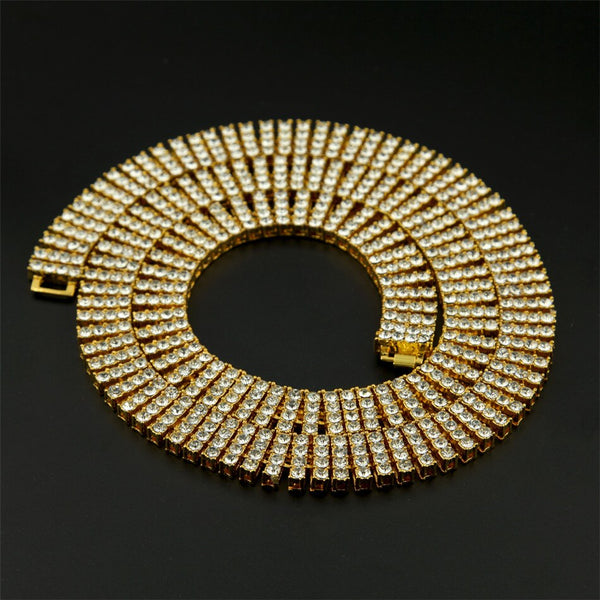 4 Row Crystal Rhinestone Luxury Necklace 30""