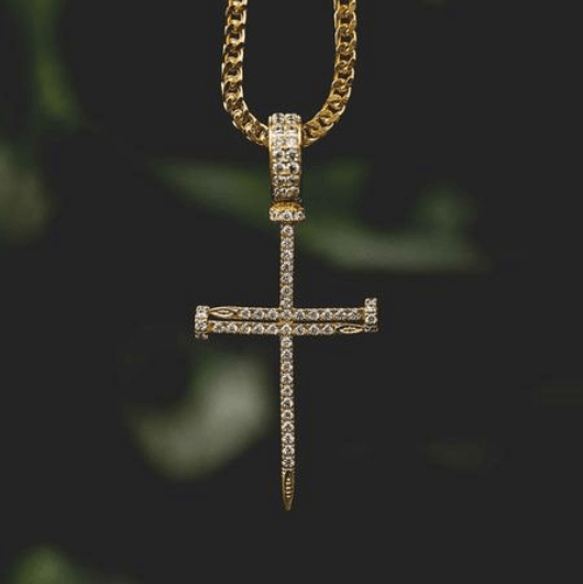 18k Gold Plated Nail Cross