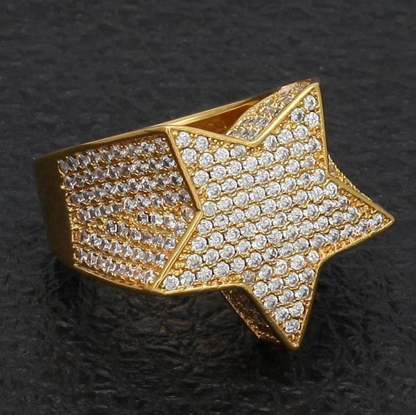 Five Point Star CZ Ring