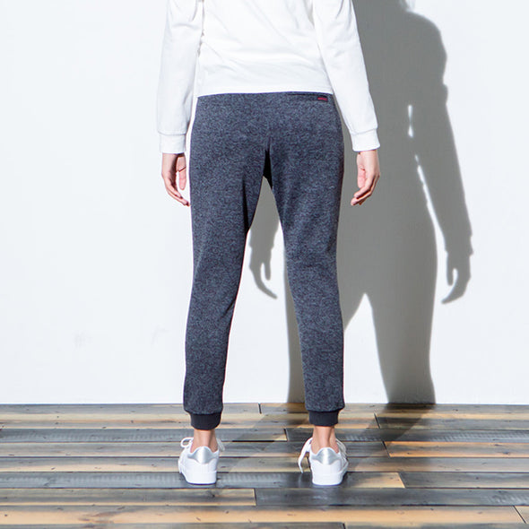 Bonding Knit Fleece Narrow Rip Pants