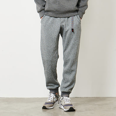 Bonding Knit-Fleece Narrow Rib Pants