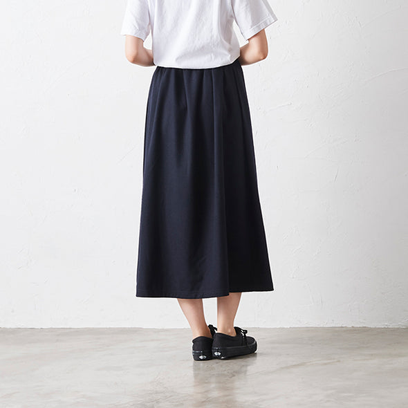Wool Blend Long Flare Skirts