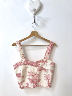 Crop Top Toile de Jouy - Taglia S/M
