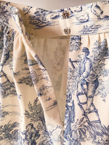 Mini gonna  sartoriale MoodS - Toile de Jouy varianti colore - Disponibile su ordinazione-