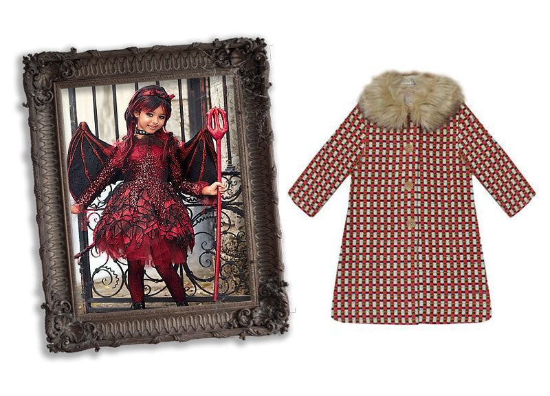 milliemanu-red-check-tweed-orla-winter-children's-coat-halloween-she-devil