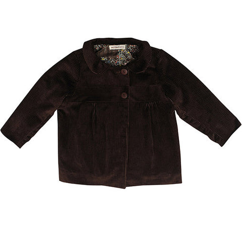 ella jacket - chocolate cord
