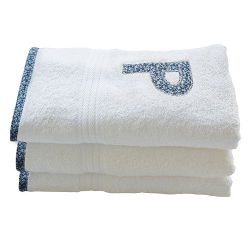 bath towel - blue pepper