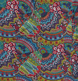 maya tunic - red/navy paisley