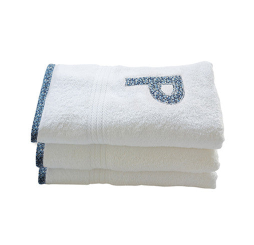 hand towel - blue pepper