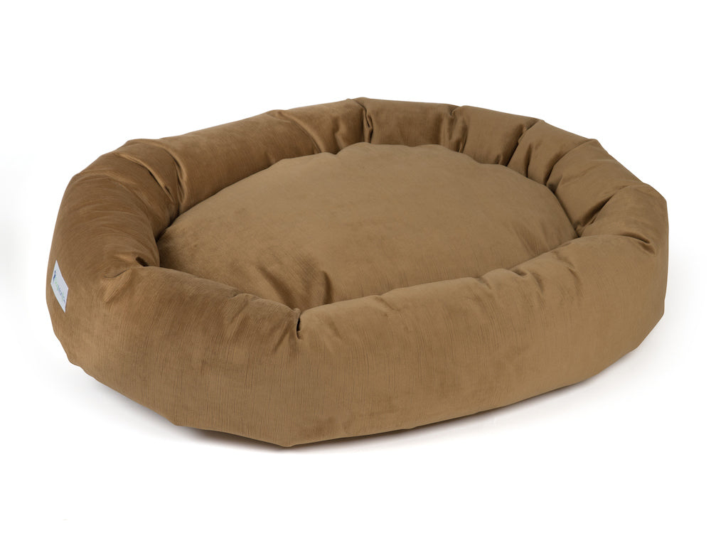 pet donut bed bronze