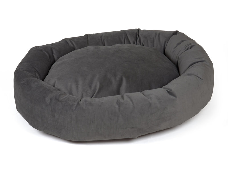pet donut bed gray