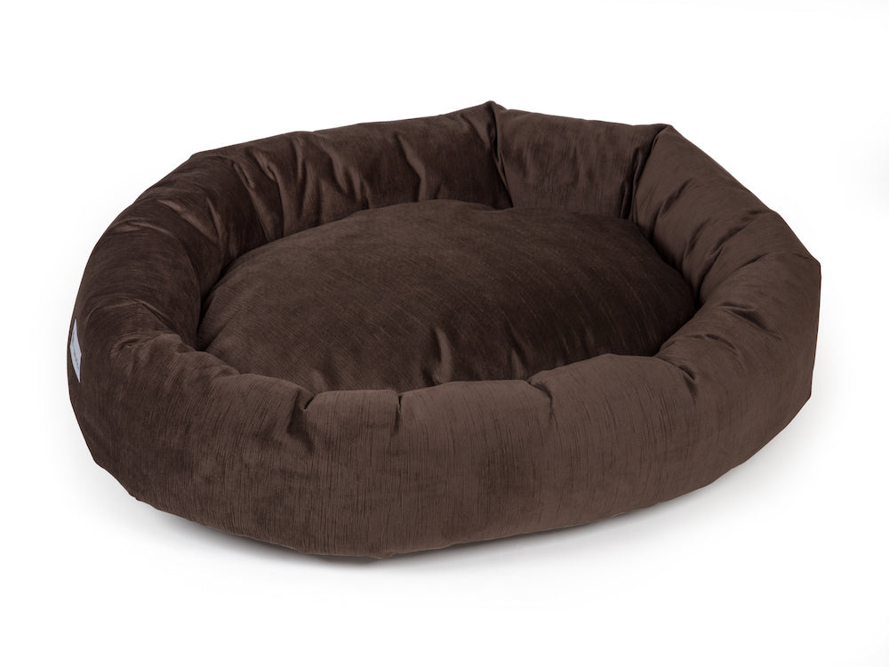 pet donut bed brown