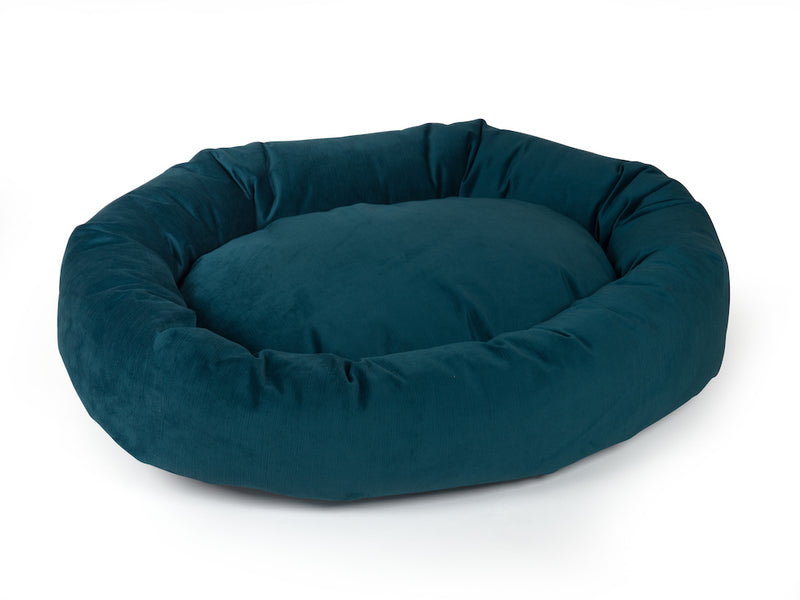 pet donut bed teal