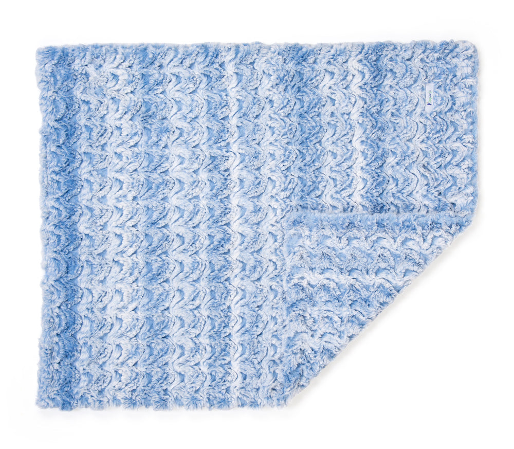 Chambray Blue Luxe Cuddle Blanket