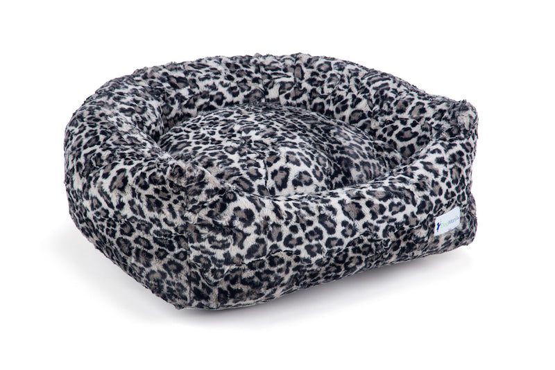 Leopard Steel DayDreamer Bed | DogMania Dog Bed