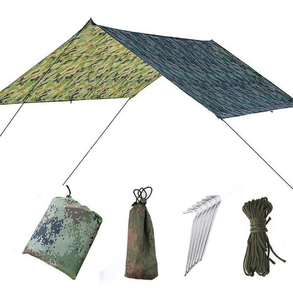 Bâche-tente-pluie-UV-protection-camping-survie-nature-camouflage-Kawaiii