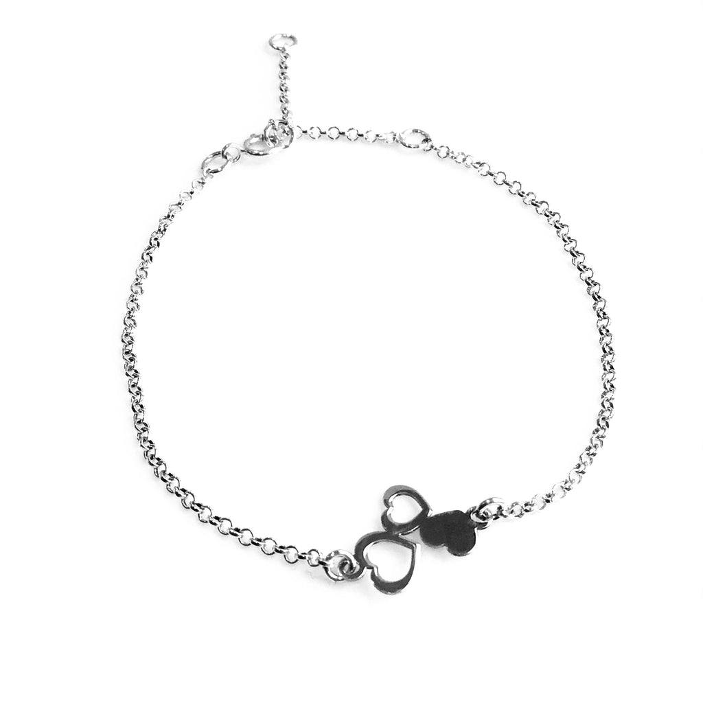 Three Heart Bracelet