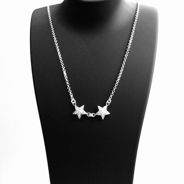 Two Stars Swarovski Crystals Necklace