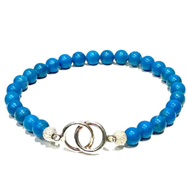 Turquoise and Infinitive Pendant Bracelet