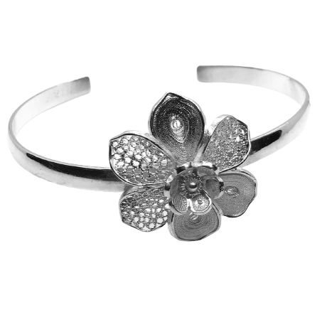 Filigree Flower Bangle